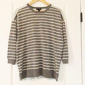 Striped J. Crew Merino Wool Sweater